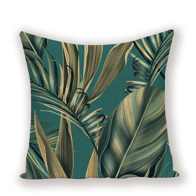 TROPICAL VIBE DECORATIVE PILLOW COVER C.9