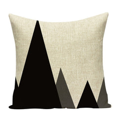 MINIMAL LEAVES DECORATIVE PILLOW COVER