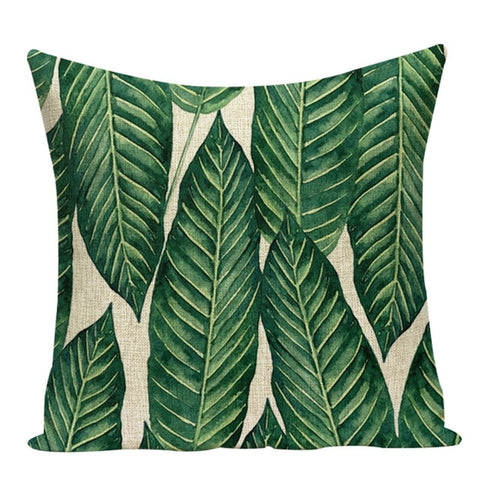 TROPICAL PLANTS DECORATIVE PILLOW