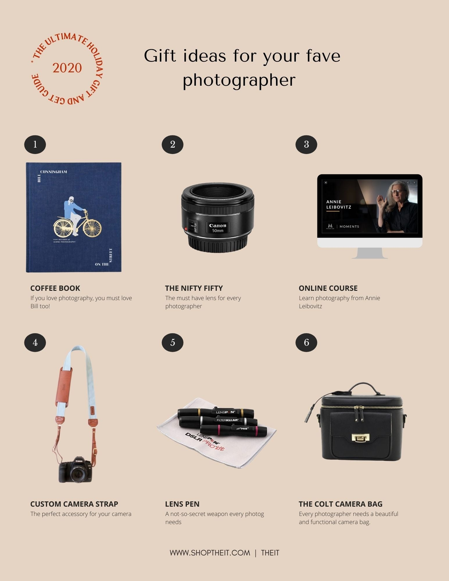 2020 Holiday Gift Guide : Gift ideas for photographers