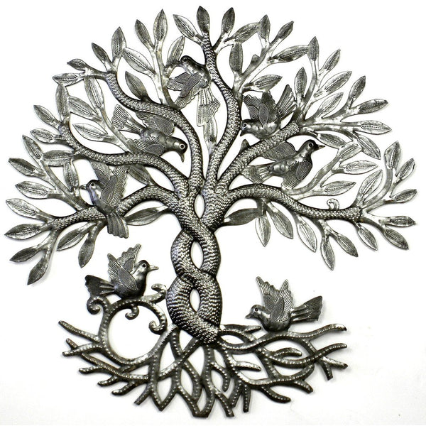 Entwined Tree of Life Metal Wall Art