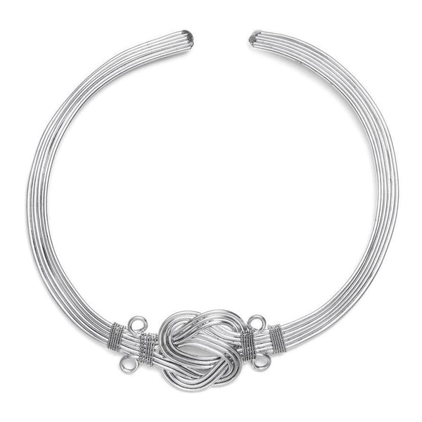 Buddha Knot Necklace - Silver