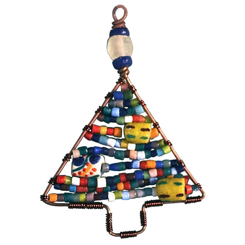 Beaded Tree Ornament Rainbow