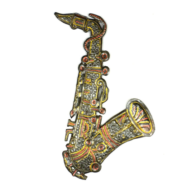 Painted Metal Sax Horn 13 inch