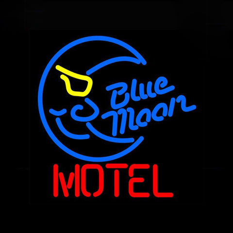 Neon Sign for Blue Moon Motel Neon Bulbs sign handcraft neon light wall lampara neon tube Decorate Room handmade anuncio luminos