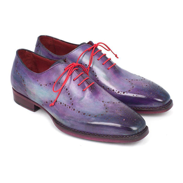 Men's Wingtip Oxfords Goodyear Welted Purple