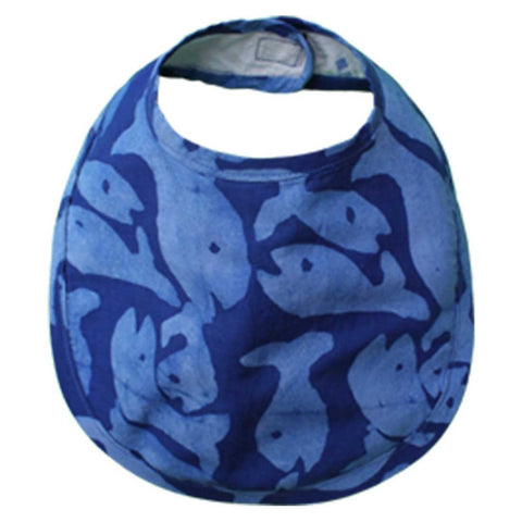 Babies Bib School of Fish Blue One Size