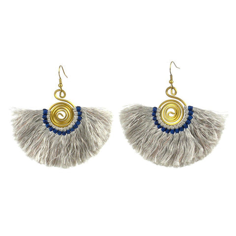 Flamenco Fringe Earrings - Silver