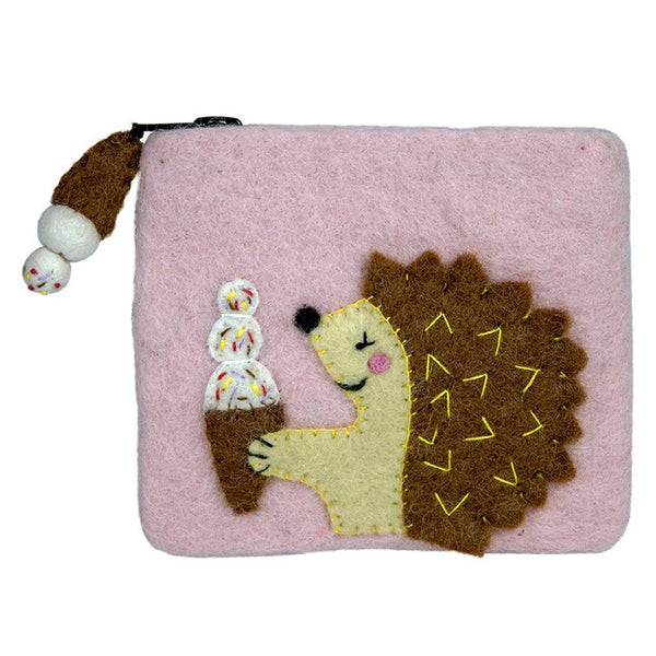 Felt Hungry Hedgehog Coinpurse