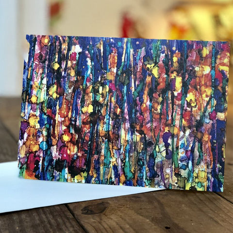 Abstract Forest : Greeting Card