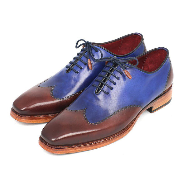 Men's Wingtip Oxford Goodyear Welted Blue & Brown