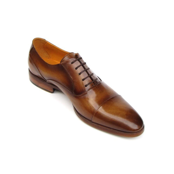 Men's Captoe Oxfords Brown Leather