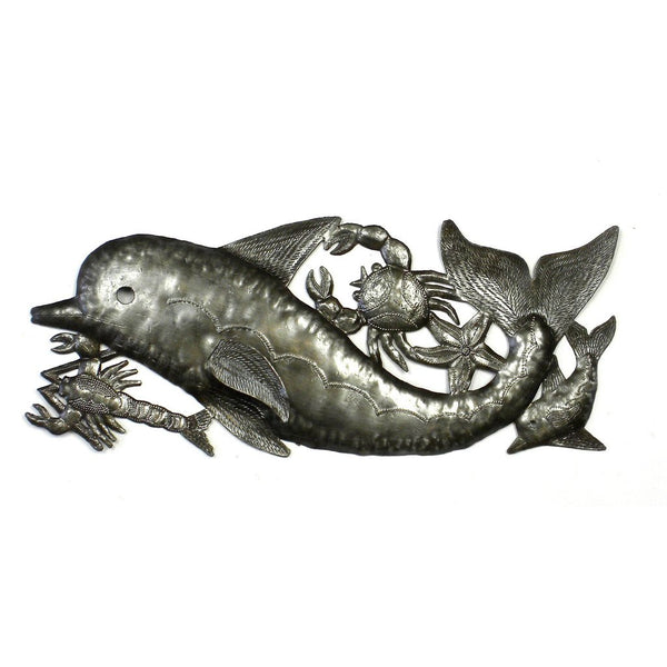 Dolphin and Sealife Metal Wall Art