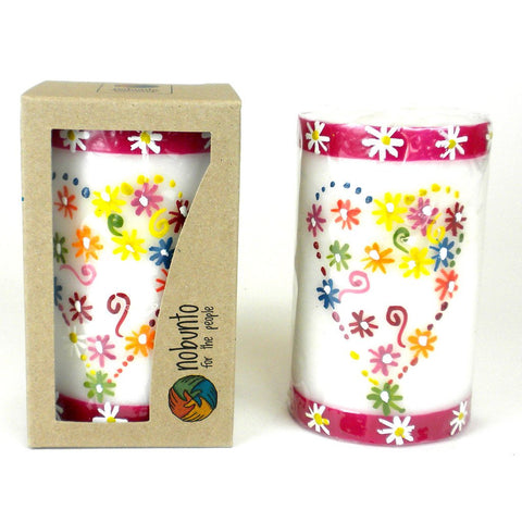 Hand Painted Candle - Single in Box - Mamako Design