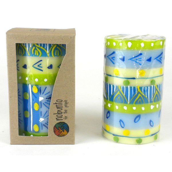 Hand Painted Candle - Single in Box - Ihlobo Design