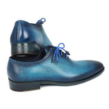 Men's Blue & Navy Medallion Toe Oxfords