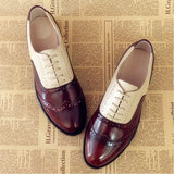 women genuine leather oxford shoes woman flats handmade vintage retro lace up loafers brown casual sneakers flat shoes for women