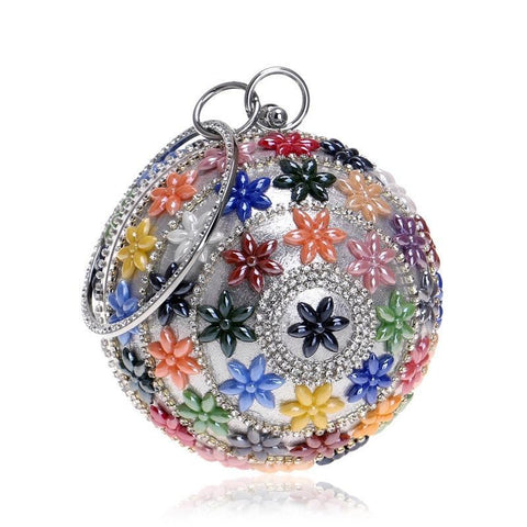 Round Bags Women Evening Party Bag Handmade Beach Cross Body Bag Circle Ring Handbag