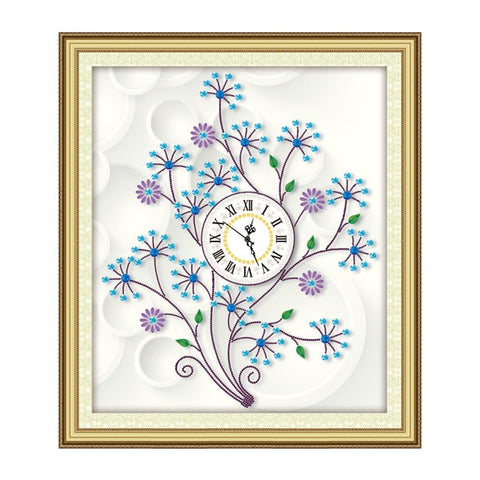 Huacan DIY Diamond Painting Tree Special Shape Rhinestone Embroidery Mosaic Cross Stitch Kits Clock Handmade Needlework Gift NEW