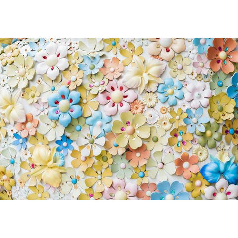 Laeacco Handmade Artwork Flowers Baby Newborn Photography Backgrounds Customized Photographic Backdrops For Photo Studio