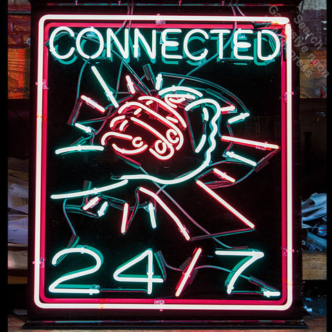 Neon Sign for Connected Hands Neon Bulbs sign Display Handmade Glass tube outdoor neon lights for sale fluorescent black Board