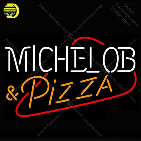 Michelob Pizza Neon Sign Glass Tube Handmade Avize neon light Sign Decorate Restaurant room Iconic Neon Light Lamps Advertise