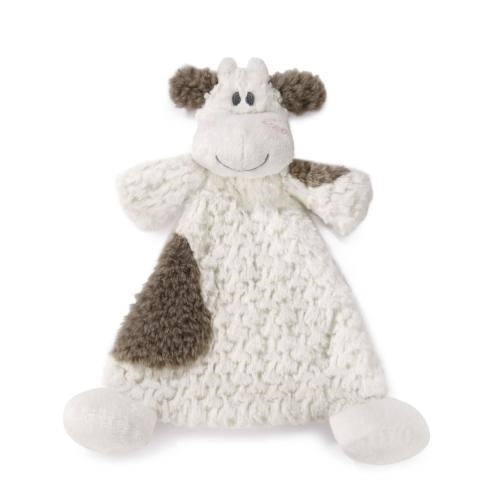 Moozer Cow Rattle Lovey - Grace & Grits