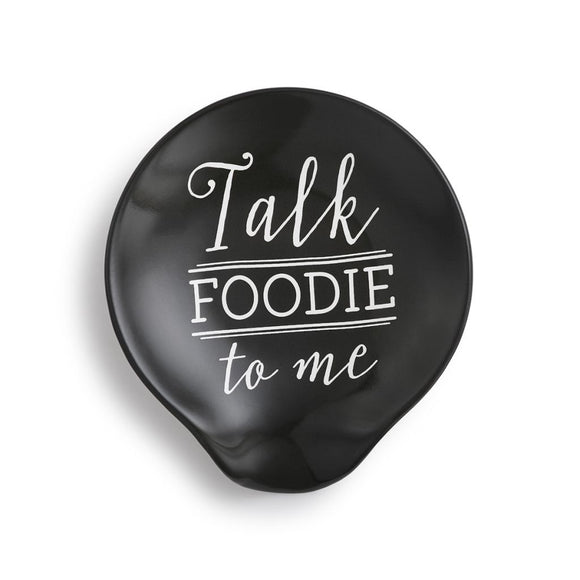 Talk Foodie to Me Spoon Rest