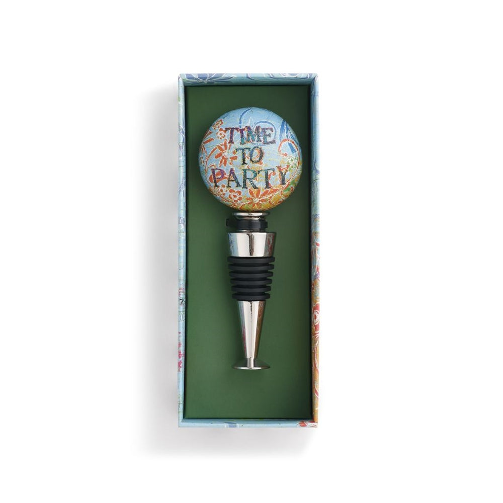 Time to Party Bottle Stopper - Grace & Grits