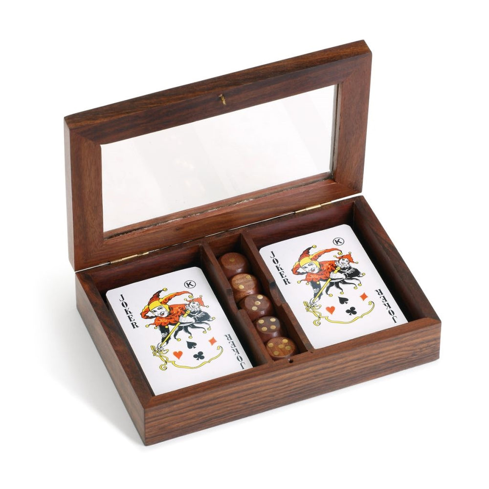 Executive Wood Dice/Card Set