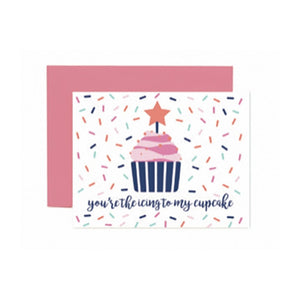 """Icing to my Cupcake"" Greeting Card"