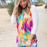 Kaleidoscope Raglan Top