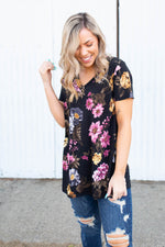 Fresh Bouquet Short Sleeve Top