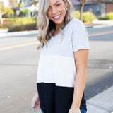 Cookies N Cream Colorblock Top