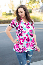Jubilee Floral Short Sleeve Tunic