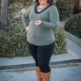Olive You Long sleeve Top
