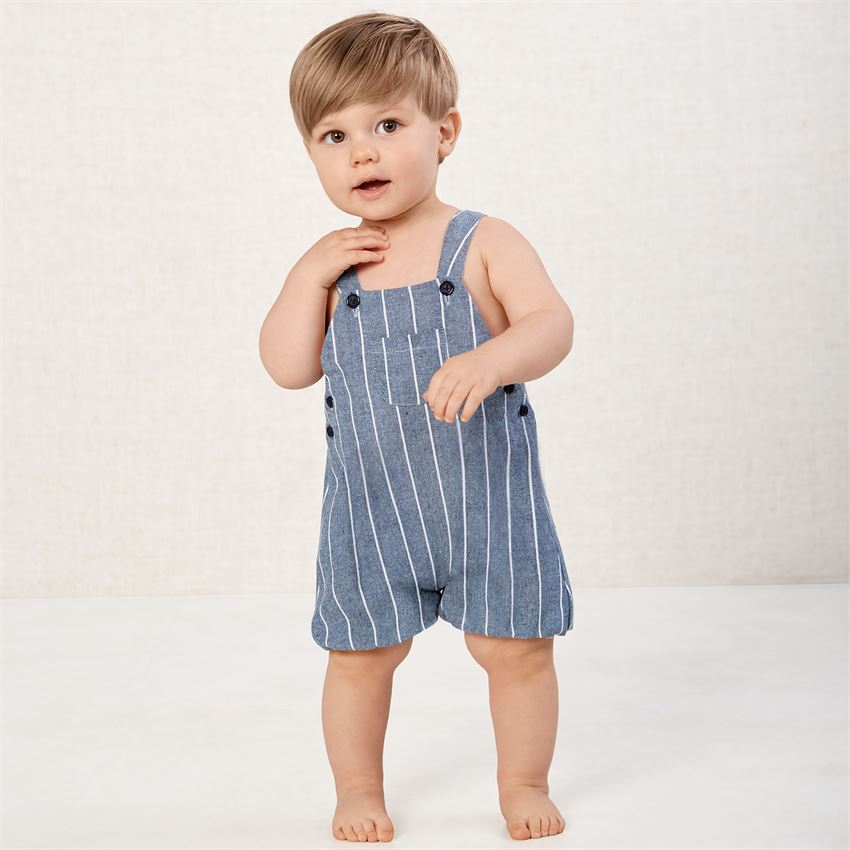 Ticking Bubble Romper - Grace & Grits