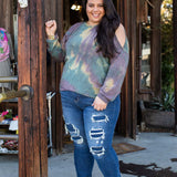 Mystic Topaz Cold Shoulder Tunic