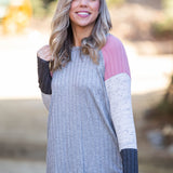 Smokey Rose Colorblock Raglan