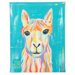 """Born to stand out"" Llama Canvas"