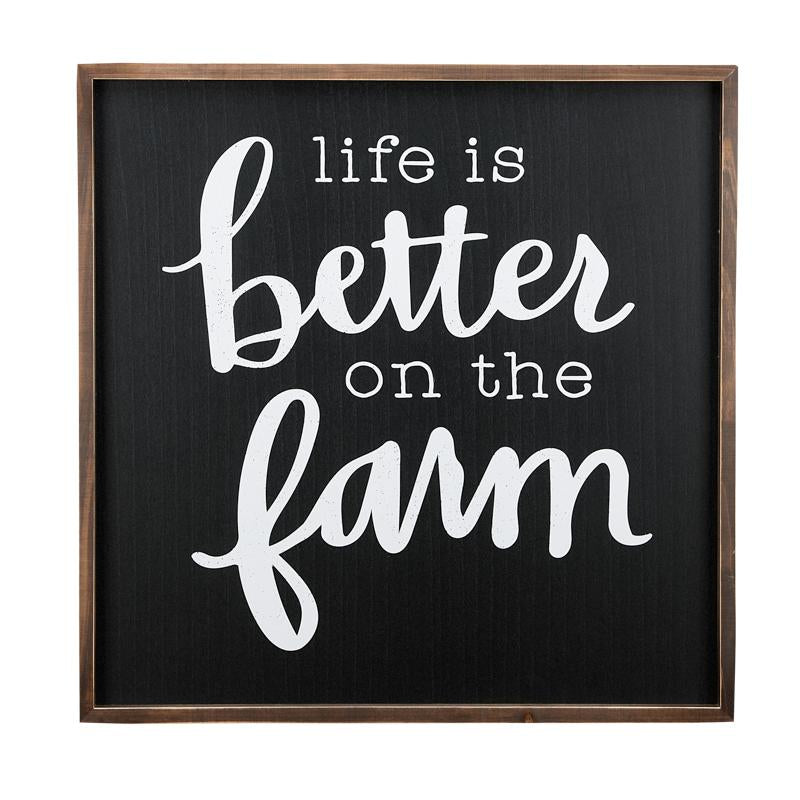 Life is Better on the Farm Framed Board - Grace & Grits