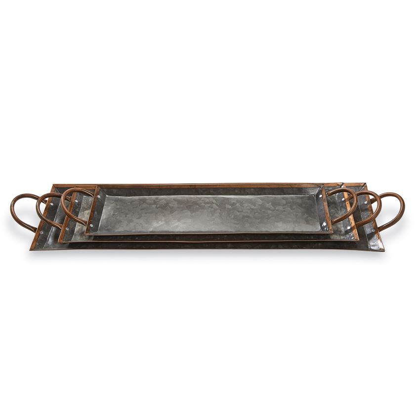 Tin & Copper Nested Trays - Grace & Grits