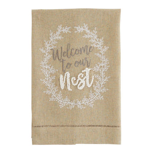 Welcome to Our Nest Tea Towel