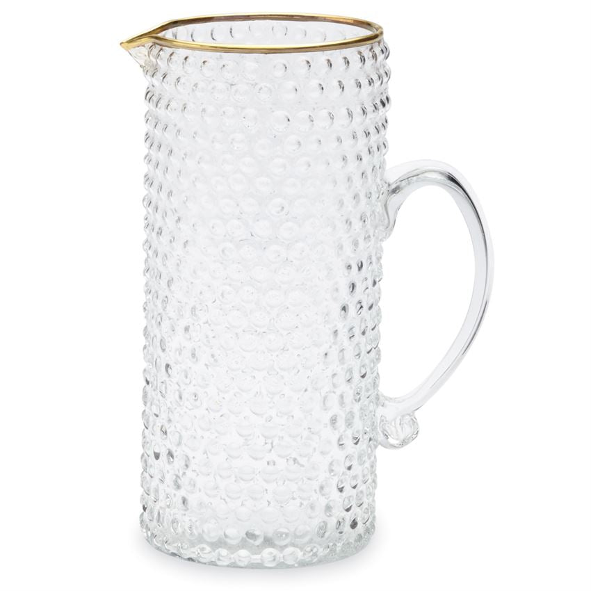 Gold Bubble Glass Pitcher - Grace & Grits
