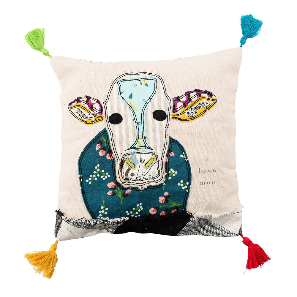 I Love Moo Throw Pillow - Grace & Grits