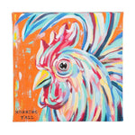 """Mornin' Y'all"" Rooster Canvas - Grace & Grits"