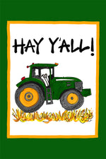 """Hay Y'all"" Garden Flag - Grace & Grits"