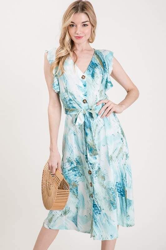 Seaside Beauty Button Down Dress