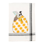 Happy Fall Embroidered Tea Towel - Grace & Grits