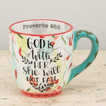 """God is With Her"" Mug - Grace & Grits"